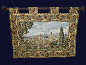 Vintage Baroque Rococo Style Tapestry Italy 1960s Exquisite Large Italianate Wall Decor - Premier Estate Gallery