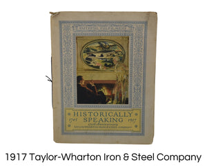 Antique Taylor-Wharton Iron & Steel Company 175th Anniversary Booklet Illustrations Pics - Premier Estate Gallery