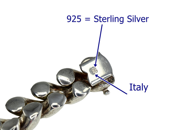 Estate Modernist Sterling Silver Bracelet Italy 46.4 grams Bold Links