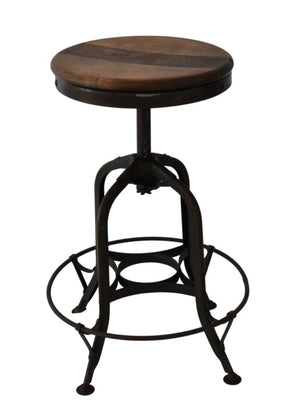 Industrial Farmhouse Toledo Stool Authentic Vintage Adjustable Height Swivel Seat - Premier Estate Gallery 1