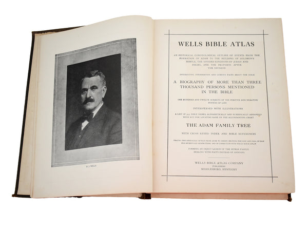 1915 Wells Bible Atlas with more than 3000 Bible Names - Premier Estate Gallery 1