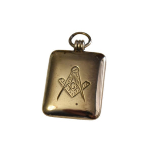 Antique Masonic Watch Fob Locket Gold Filled Engraved NA - Premier Estate Gallery