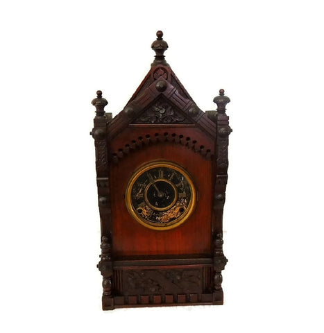 1874 Kroeber German Cabinet Clock Antique Aesthetic - Premier Estate Gallery  - 1