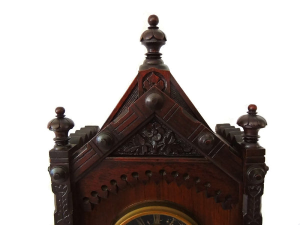 1874 Kroeber German Cabinet Clock Antique Aesthetic - Premier Estate Gallery  - 2