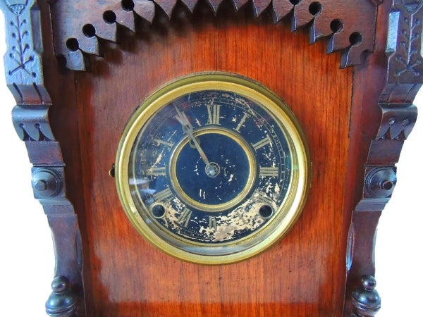 1874 Kroeber German Cabinet Clock Antique Aesthetic - Premier Estate Gallery  - 3
