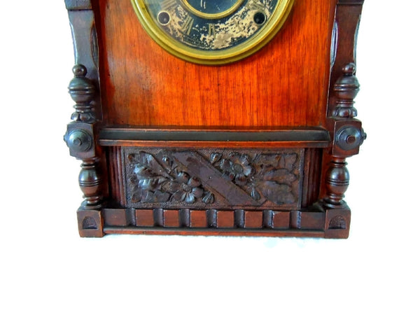 1874 Kroeber German Cabinet Clock Antique Aesthetic - Premier Estate Gallery  - 4