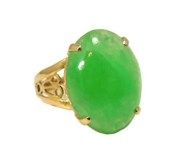 18k Jade Ring Vintage Art Deco Style 8.06 carats - Premier Estate Gallery  - 3