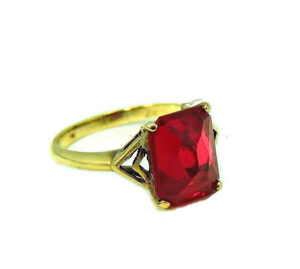 Vintage 10k Lab Ruby Art Deco Ring 4 Carats - Premier Estate Gallery  - 2