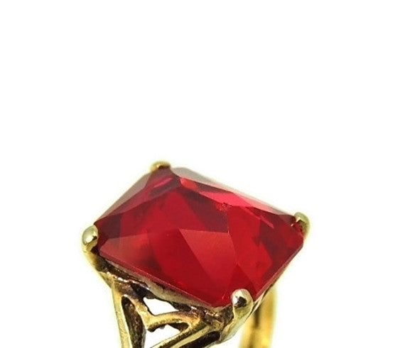 Vintage 10k Lab Ruby Art Deco Ring 4 Carats - Premier Estate Gallery  - 7