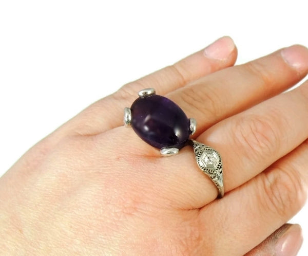 MOD Amethyst Sterling Silver Ring Earring Set 35 ctw - Premier Estate Gallery  - 8
