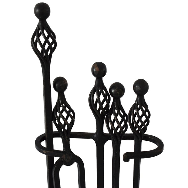 Vintage Mission Style Spiral Andirons with Matching Tools - Premier Estate Gallery 3