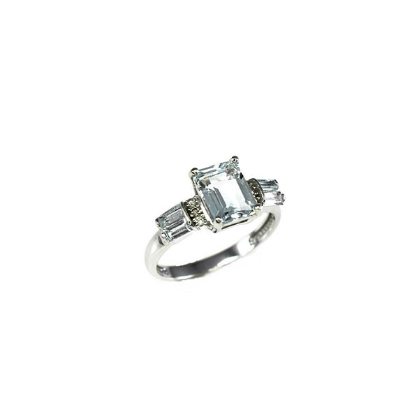 Estate 14k Aquamarine Diamond Accent Ring White Gold 2.39 ctw - Premier Estate Gallery 3