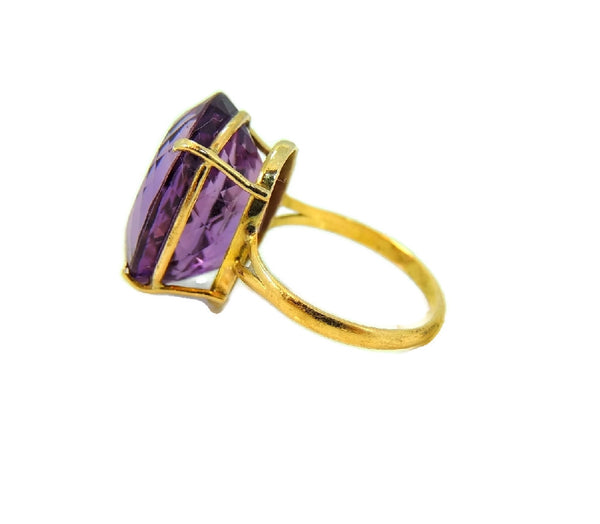 Huge Amethsyt Ring 14k Gold 14 Carats of Purple Gemstone Vintage - Premier Estate Gallery  - 6