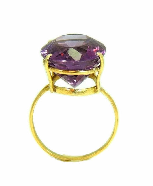 Huge Amethsyt Ring 14k Gold 14 Carats of Purple Gemstone Vintage - Premier Estate Gallery  - 4