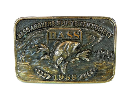 Angler Fishing Belt Buckle Brass Vintage - Premier Estate Gallery  - 1