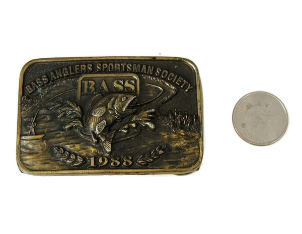 Angler Fishing Belt Buckle Brass Vintage - Premier Estate Gallery  - 3