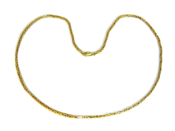 14k Byzantine Gold Chain Necklace Italy - Premier Estate Gallery  - 3