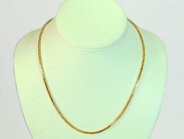 14k Byzantine Gold Chain Necklace Italy