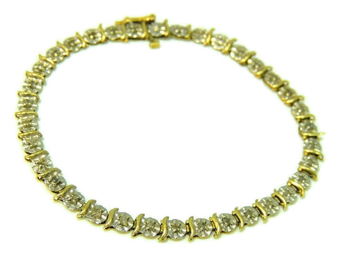 10k Diamond Tennis Bracelet Buttercup Setting - Premier Estate Gallery  - 1