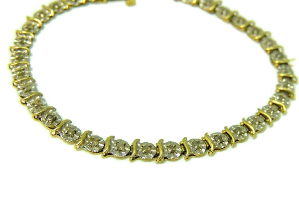 10k Diamond Tennis Bracelet Buttercup Setting - Premier Estate Gallery  - 2