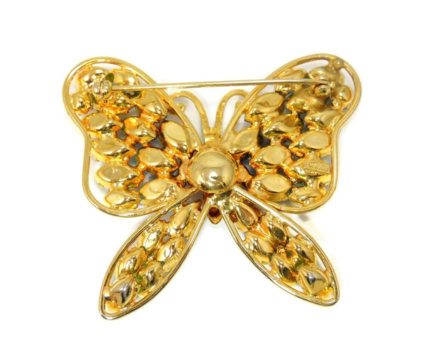 Vintage Butterfly Rhinestone Brooch Napier Blues and Green Large - Premier Estate Gallery  - 3