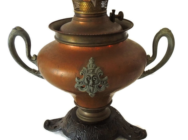 Antique Copper Bradley Hubbard Oil Lamp Victorian Parlor - Premier Estate Gallery  - 2