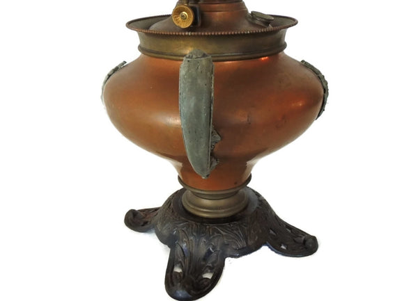 Antique Copper Bradley Hubbard Oil Lamp Victorian Parlor - Premier Estate Gallery  - 3