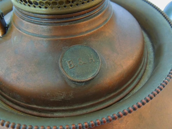 Antique Copper Bradley Hubbard Oil Lamp Victorian Parlor - Premier Estate Gallery  - 8