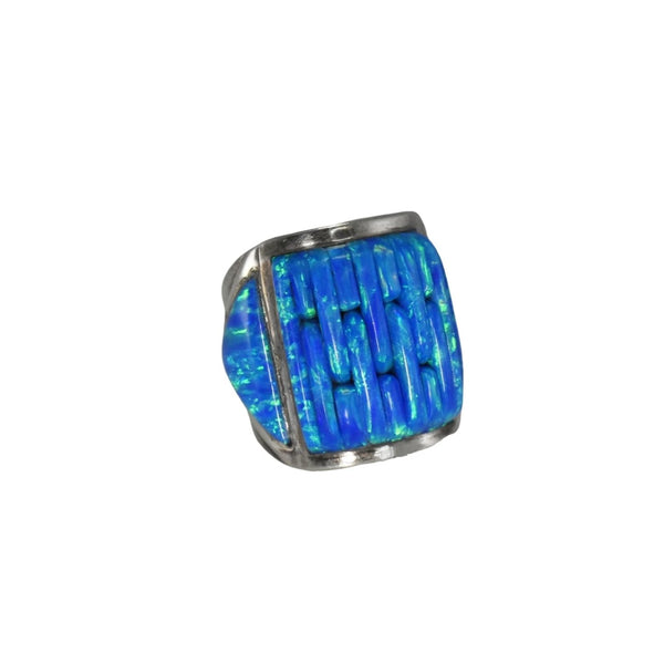 Vintage Silver Black Opal Ring Native American - Premier Estate Gallery