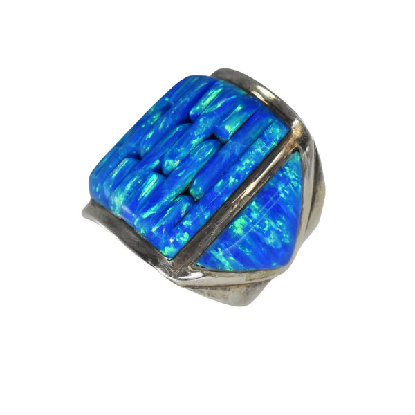 Vintage Silver Black Opal Ring Native American - Premier Estate Gallery 1