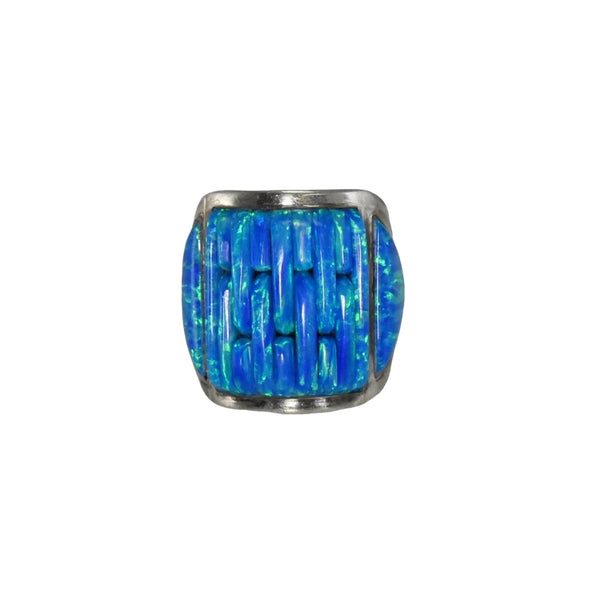 Vintage Silver Black Opal Ring Native American - Premier Estate Gallery 4