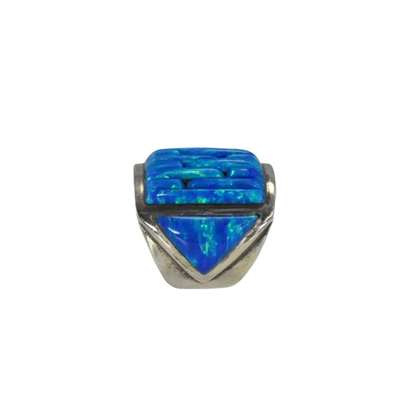 Vintage Silver Black Opal Ring Native American - Premier Estate Gallery 5