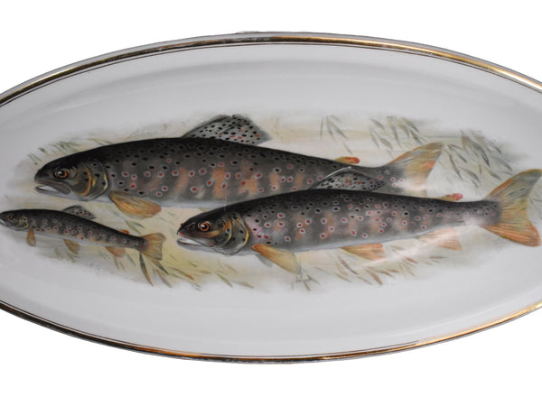 Antique Porcelain Fish Platter Fish Plate Set B. Bloch Eichwald Porcelain 10 pc - Premier Estate Gallery 2