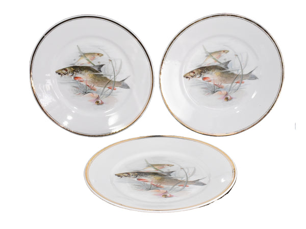 Antique Porcelain Fish Platter Fish Plate Set B. Bloch Eichwald Porcelain 10 pc - Premier Estate Gallery 3