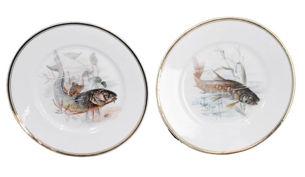 Antique Porcelain Fish Platter Fish Plate Set B. Bloch Eichwald Porcelain 10 pc - Premier Estate Gallery 4