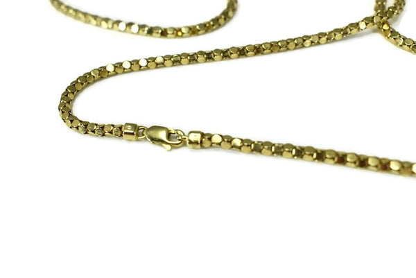 14k Box Link Chain Long 31 inch Gold Chain 17.7g