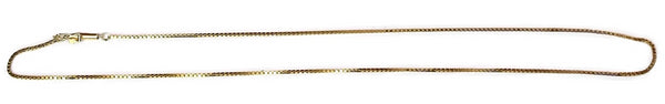 Estate 14k Gold 1mm Box Chain 16.5 Inch - Premier Estate Gallery