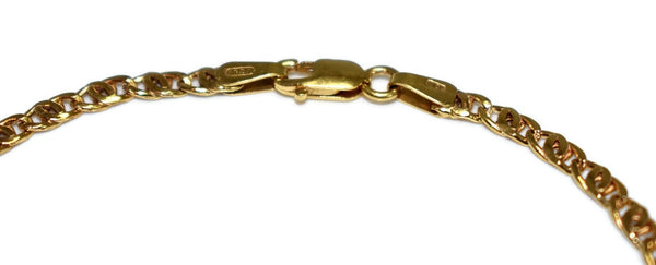 10k Gold Bracelet Italy 8 Inch Dainty Anchor Link - Premier Estate Gallery 2