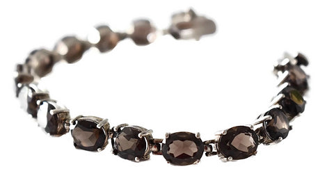 Sterling Silver Brown Topaz Tennis Bracelet 28.65 ctw - Premier Estate Gallery 3