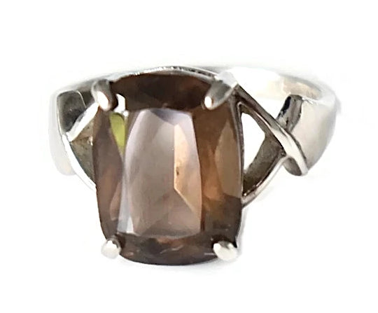 Silver Smoky Brown Quartz Ring 6.71 cts - Premier Estate Gallery 2