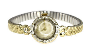 Vintage Bulova 14k Gold Diamond Ladies Watch Dated 1949 Needs TLC - Premier Estate Gallery