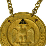 Vintage Brass Masonic Medal Madison WI Consistory 32nd 33rd Degree Scottish Rite - Premier Estate Gallery  2