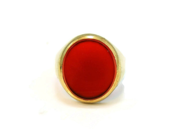 9kt Gold Carnelian Signet Ring Antique Estate Jewelry 19th Century - Premier Estate Gallery  - 2
