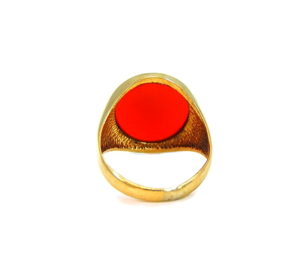 9kt Gold Carnelian Signet Ring Antique Estate Jewelry 19th Century - Premier Estate Gallery  - 3