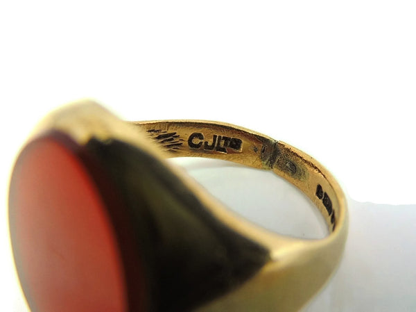 9kt Gold Carnelian Signet Ring Antique Estate Jewelry 19th Century - Premier Estate Gallery  - 4