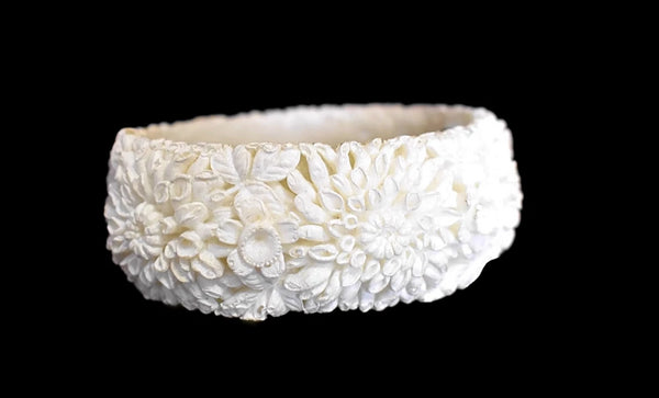 Victorian Style Carved Celluloid Bangle Bracelet Romantic Vintage  - Premier Estate Gallery 3