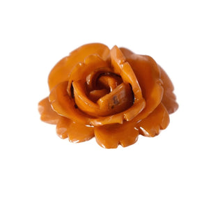 Vintage Butterscotch Carved Bakelite Rose Pendant - Premier Estate Gallery 2