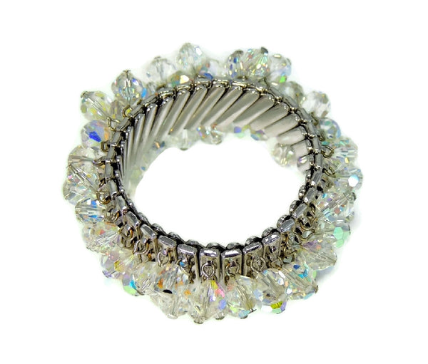 1950s Crystal Expansion Bracelet Hollywood Glamour - Premier Estate Gallery  - 4