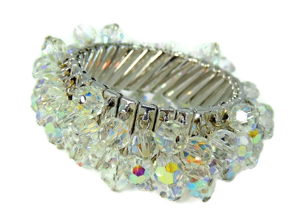 1950s Crystal Expansion Bracelet Hollywood Glamour