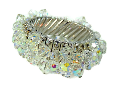 1950s Crystal Expansion Bracelet Hollywood Glamour - Premier Estate Gallery  - 1